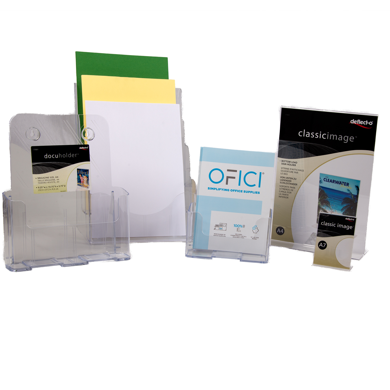 Brochure & Card Holder